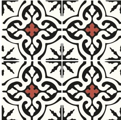 Multiple tiles of CLA04_V02 from the Classic Collection TassemiT Cement Tiles | Authentic Moroccan Tile