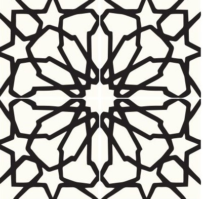 Multiple tiles of CLA05_V01 from the Classic Collection TassemiT Cement Tiles | Authentic Moroccan Tile