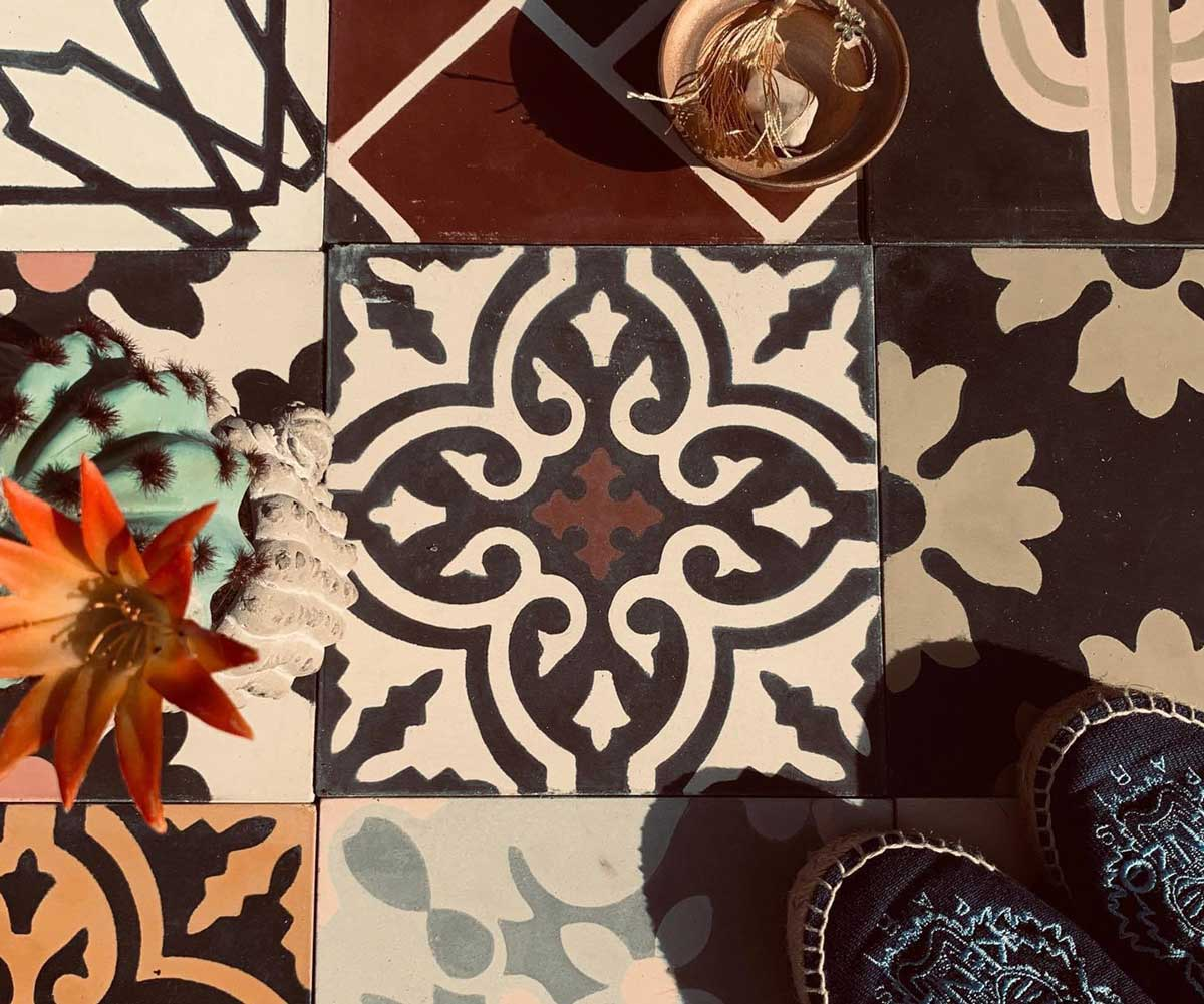 Assorted Moroccan cement tiles | TassemiT Authentic Moroccan Tile Manufacturer