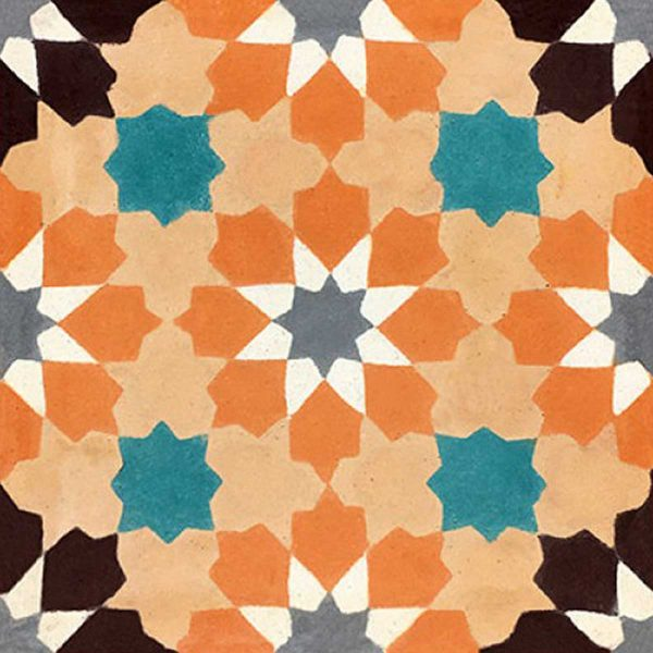 BER03_V01 of the Berber Collection TassemiT Cement Tiles | Authentic Moroccan Tile