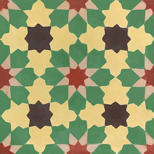 BER03_V02 of the Berber Collection TassemiT Cement Tiles | Authentic Moroccan Tile