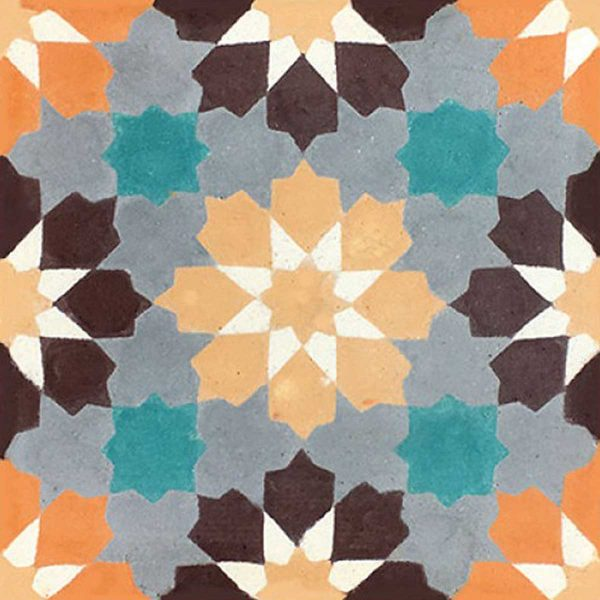 BER03_V04 of the Berber Collection TassemiT Cement Tiles | Authentic Moroccan Tile