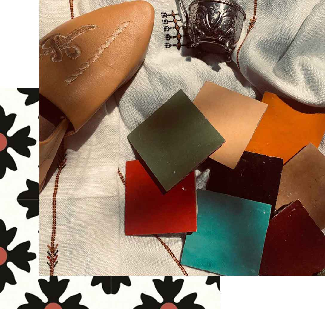 Moroccan tile colors and cement tile from TassemiT Authentic Moroccan Tile Manufacturer | Cement Tiles, Zellige Tiles, Handmade Tiles