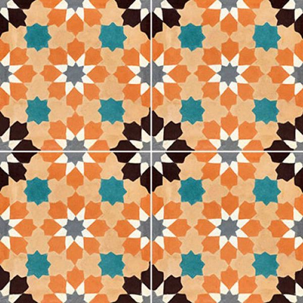 Multiple tiles of BER03_V01 from the Berber Collection TassemiT Cement Tiles | Authentic Moroccan Tile