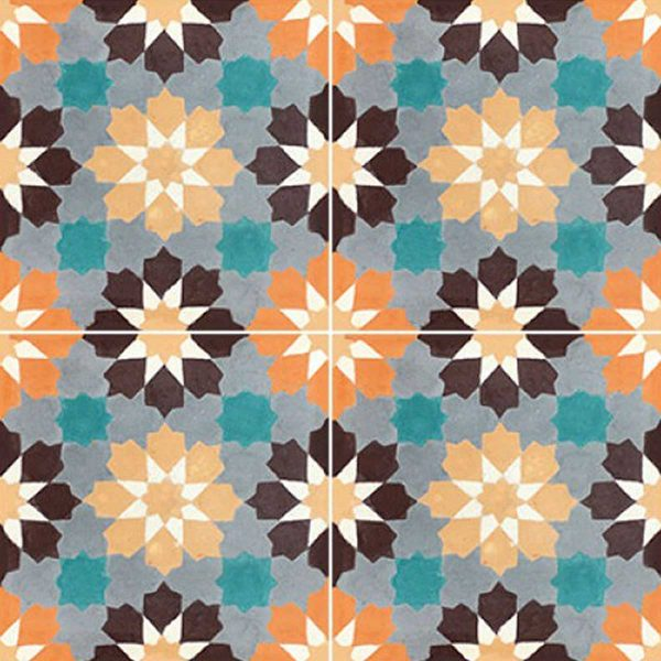 Multiple tiles of BER03_V04 from the Berber Collection TassemiT Cement Tiles | Authentic Moroccan Tile