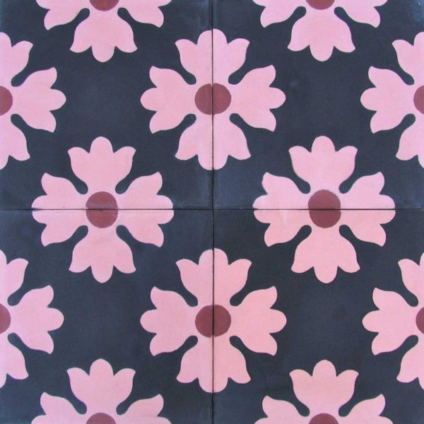 Multiple tiles of CLA01_V01 from the Classic Collection TassemiT Cement Tiles | Authentic Moroccan Tile