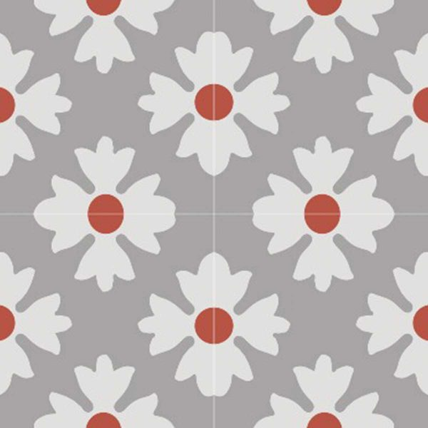 Multiple tiles of CLA01_V02 from the Classic Collection TassemiT Cement Tiles | Authentic Moroccan Tile