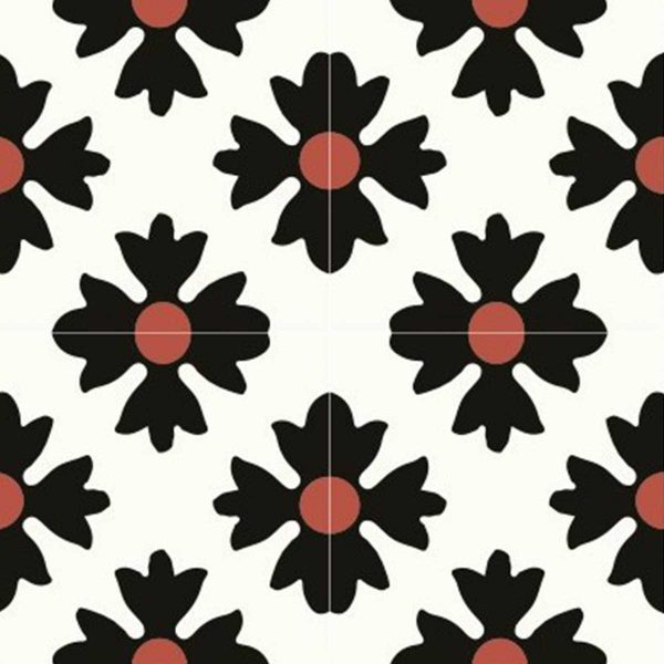 Multiple tiles of CLA01_V03 from the Classic Collection TassemiT Cement Tiles | Authentic Moroccan Tile