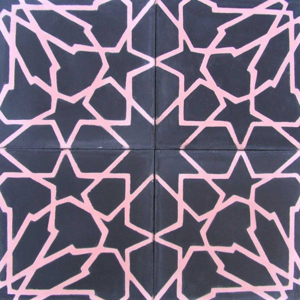 Multiple tiles of CLA02_V01 from the Classic Collection TassemiT Cement Tiles | Authentic Moroccan Tile