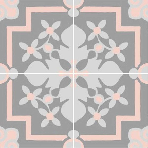 Multiple tiles of CLA03_V01 from the Classic Collection TassemiT Cement Tiles | Authentic Moroccan Tile