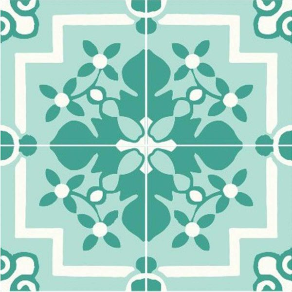 Multiple tiles of CLA03_V02 from the Classic Collection TassemiT Cement Tiles | Authentic Moroccan Tile